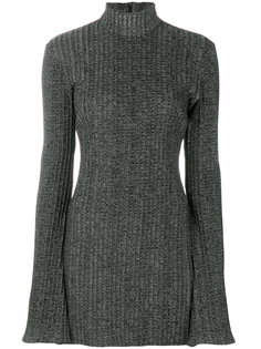 платье с ребристой фактурой с высоким воротником Ellery