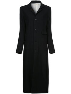 длинное пальто на пуговицах Aleksandr Manamïs