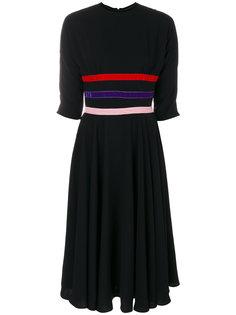 платье длины миди с лентами трех цветов Vivetta