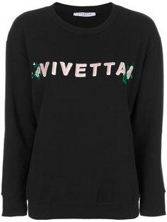 толстовка с вышивкой Vivetta