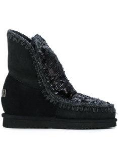 ботинки с пайетками Mou