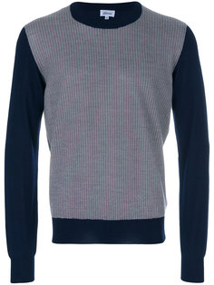 свитер с контрастными рукавами Brioni