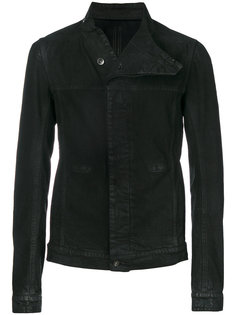 джинсовая куртка асимметричного кроя Rick Owens DRKSHDW