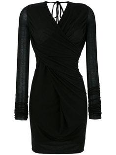 драпированное платье с V-образным вырезом Rick Owens Lilies