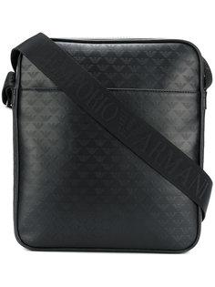 прямоугольная сумка с тисненым логотипом Emporio Armani