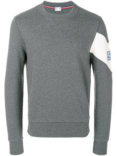 пуловер с контрастными рукавами Moncler Gamme Bleu