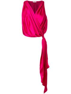 блузка с запахом и V-образным вырезом  Attico