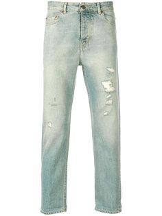 прямые джинсы с рваными деталями Golden Goose Deluxe Brand