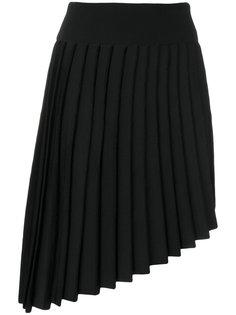 плиссированная асимметричная мини-юбка Balmain