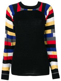 свитер с полосками на рукавах  Sonia Rykiel