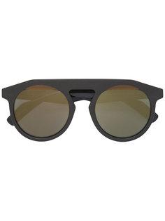 солнцезащитные очки в толстой оправе Yohji Yamamoto