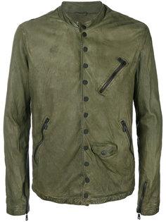 байкерская куртка-бомбер Giorgio Brato