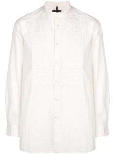 рубашка с плиссированным нагрудником Ziggy Chen