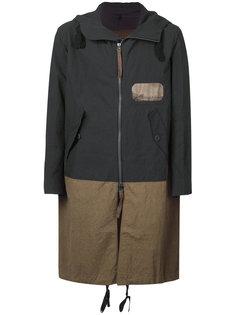 пальто с контрастными панелями Ziggy Chen
