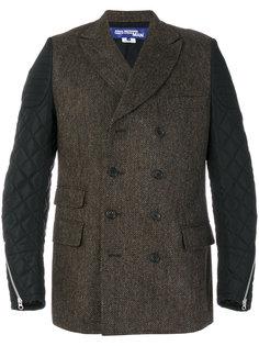 твидовый пиджак с контрастными рукавами Junya Watanabe Comme Des Garçons