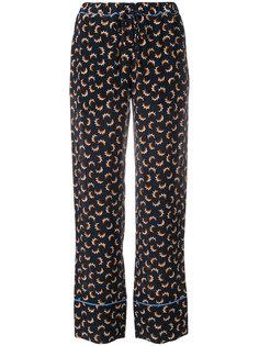 брюки с принтом Scrawl Marni