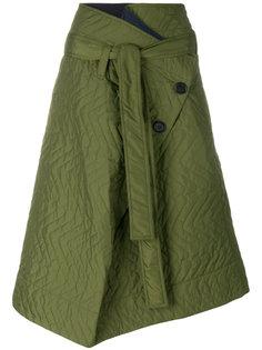 стеганая юбка с запахом на одну сторону Marni