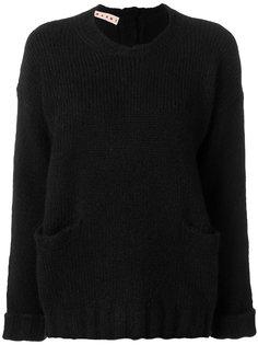 свитер крупной вязки с ребристой фактурой Marni