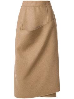 юбка с декоративной драпировкой Marni