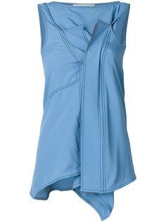 блузка без рукавов с драпированной деталью Marni
