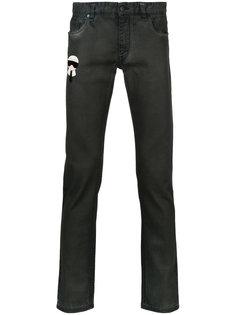джинсы кроя слим Karlito Fendi