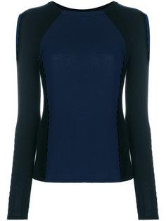двухцветный свитер Versace Collection