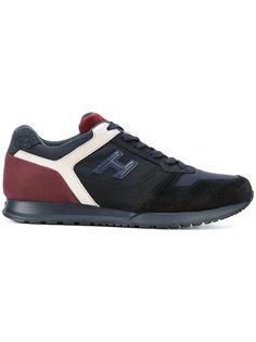панельные кроссовки на шнуровке Hogan