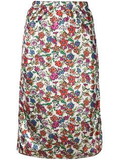 юбка длины миди с цветочным рисунком Marni