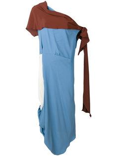 асимметричное платье в стиле тоги Marni
