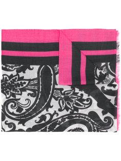 шарф с узором пейсли и полосками Etro