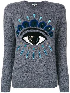 свитер с узором в виде глаза  Kenzo