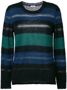 свитер с круглым вырезом в полоску P.A.R.O.S.H.