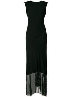 длинное платье с асимметричным подолом Ann Demeulemeester