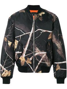 куртка-бомбер  с принтом веток Alexander Wang