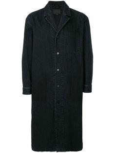 однобортное джинсовое пальто Alexander Wang