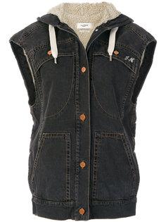 джинсовый жилет с вышивкой  Isabel Marant Étoile