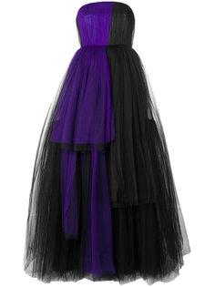 платье без бретелек  Delpozo