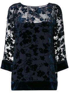 блузка с бархатистым узором Alberta Ferretti
