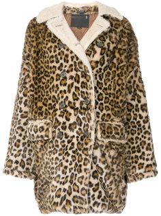 свободное пальто с леопардовым принтом  R13