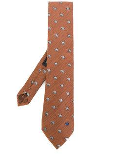 галстук с принтом белых медведей Etro