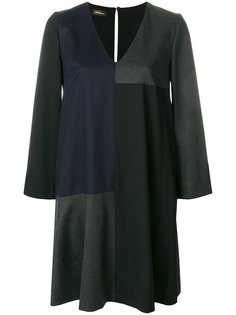 платье с V-образным вырезом с панельным дизайном Les Copains