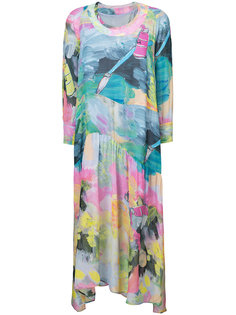 платье с принтом мазков кисти Tsumori Chisato