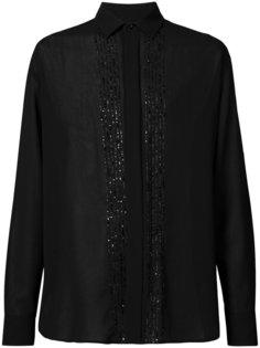 декорированная рубашка Saint Laurent