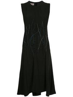 платье без рукавов с декоративной строчкой  Marni