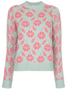свитер с круглым вырезом и цветочным узором  Barrie