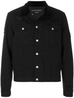 джинсовая куртка с потертой отделкой Alexander McQueen