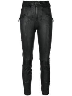 байкерские брюки со вставками  Unravel Project
