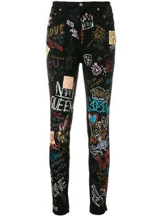 """джинсы """"скинни"""" с принтом в стиле граффити Dolce & Gabbana"""