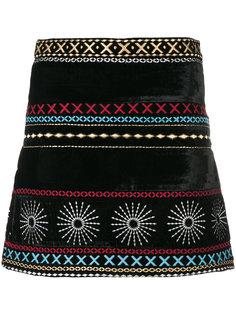 бархатная юбка с вышивкой  Dodo Bar Or