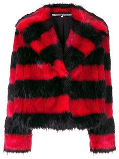 куртка из искусственного меха в полоску  McQ Alexander McQueen